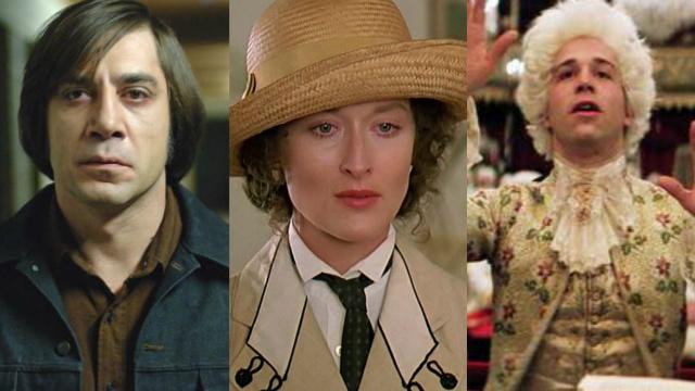 Onde Os Fracos Não Têm Vez, Entre Dois Amores e Amadeus estão entre os vencedores do Oscar de Melhor Filme. Fotos: Netflix/Reprodução