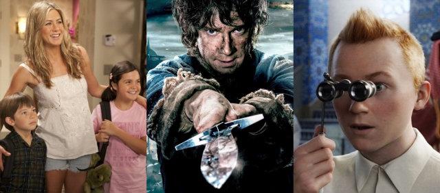 Esposa de Mentirinha, O Hobbit e As Aventurasd de Tintim saem do catálogo. Fotos: Happy Madison Productions Metro-Goldwyn Meyer, DreamWorks/Divulgação