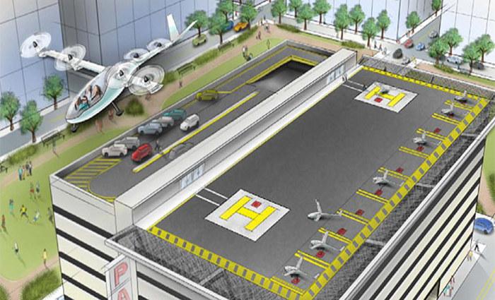 Ilustração do Uber Elevate  (Divulgação)