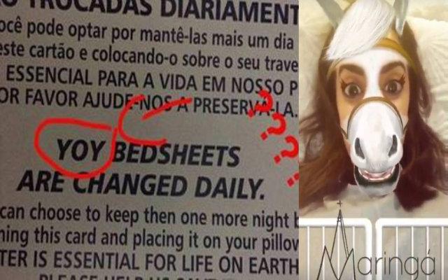 A cantora apontou sentenças com erros de ortografia ou gramática e usou um filtro em que aparece como um cavalo para rir da situação. Foto: Instagram/Reprodução