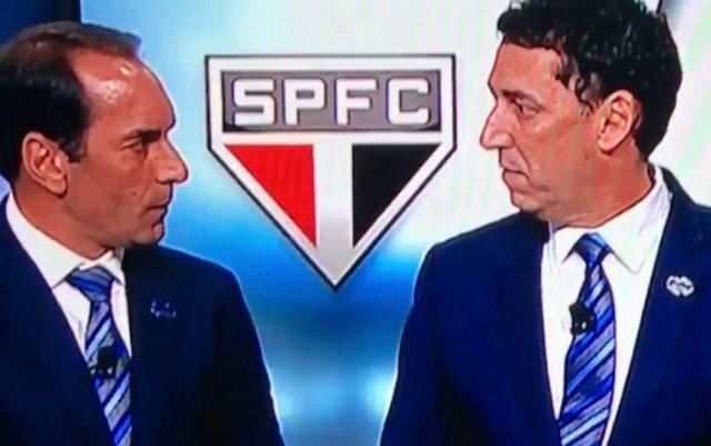 Ex-jogador Edmundo e jornalista PVC discutem ao vivo durante programa da Fox Sports. Foto: YouTube/Reprodução