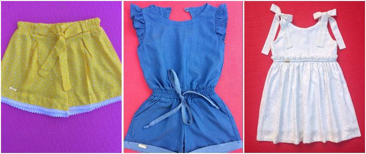 A Fenda Mini aposta em modelagens confortáveis e tecidos com estamparia lúdica e cores atrativas para os pequenos. Fotos: Instagram/@fendamini/Reprodução