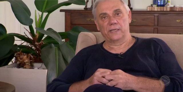 Entrevista foi gravada no dia da internação de Rezende. Foto: Record/Reprodução
