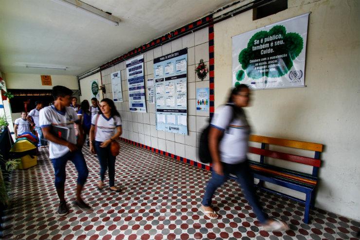 A Escola Estadual Maria Auxiliadora, em João Alfredo, tem 615 alunos e foi destaque no Ideb do estado. Foto: Rafael Martins/DP