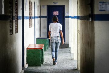 """Antes de ser considerada referência, com a transformação pela qual passou nos últimos três anos, a escola era """"rejeitada"""" pela população local. Foto: Rafael Martins/DP"""