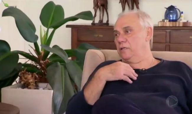 Marcelo Rezende foi diagnosticado com um câncer irradiado para o fígado. Foto: Record/Reprodução