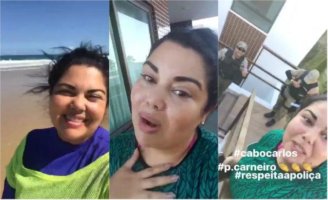 Atriz pernambucana divulgou vídeo comentando o ocorrido. Foto: Instagram/Reprodução