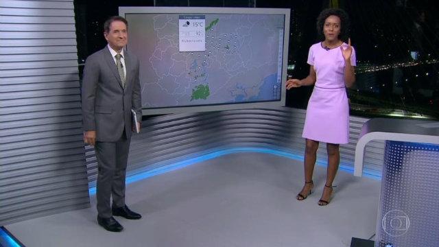 Maju, como foi carinhosamente apelidada pelos colegas de trabalho, participava do SPTV 2ª edição, da Globo, na noite desta terça-feira. Foto: Rede Globo/Reprodução
