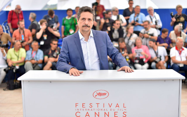 No ano passado, Kleber concorreu à Palma de Ouro com o filme Aquarius e fez protesto contra o impeachment. Foto: Loic Venance/Divulgação