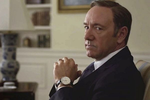 Kevin Spacey interpreta o inescrupuloso Frank Underwood. Netflix/Divulgação