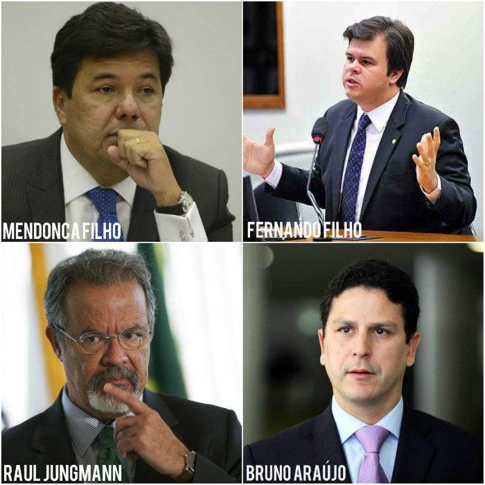 Fotos: Marcello Casal Jr/ Agência Brasil; Agência Câmara/Divulgação; Marcelo Camargo/Agência Brasil e George Gianni/PSDB