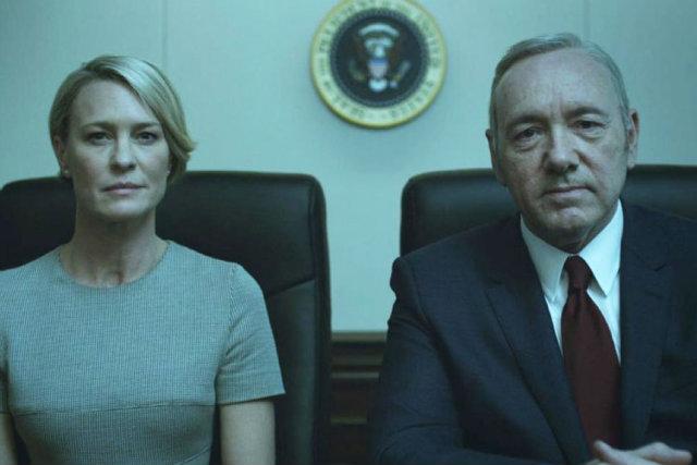 Atriz de 51 anos interpreta a primeira dama Claire Underwood na trama. Foto: Netflix/Divulgação