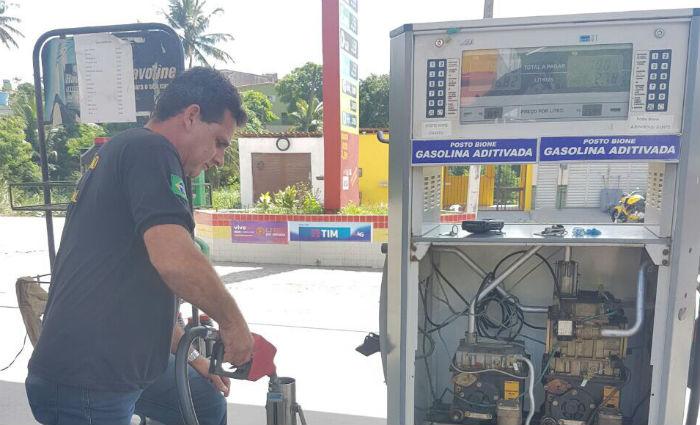 Ipem fiscaliza postos de combustíveis na Zona da Mata Norte e Agreste. Foto: IPEM/ Divulgação