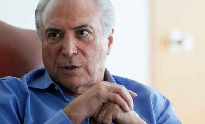 Michel Temer nega que tenha dado seu aval para comprar o silêncio de Eduardo Cunha - Foto: Beto Barata/PR