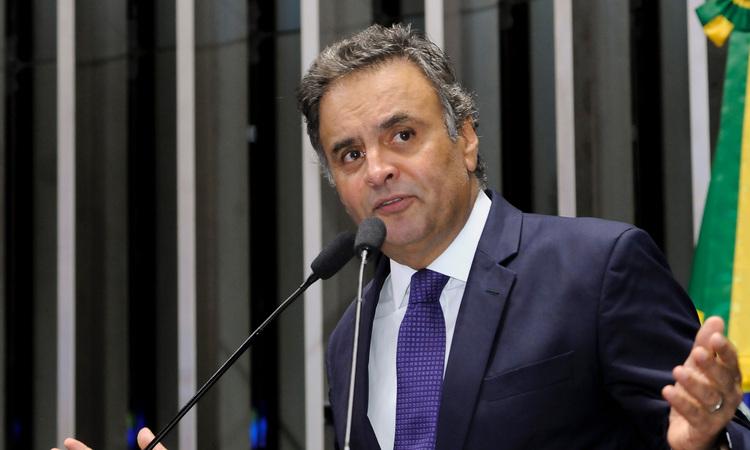 O Procurador-Geral da República, Rodrigo Janot, pediu a prisão de Aécio Neves, mas o pedido foi negado pelo relator da ação no Supremo Tribunal Federal (STF), ministro Edson Fachin. Foto: Waldemir Barreto/Agência Senado