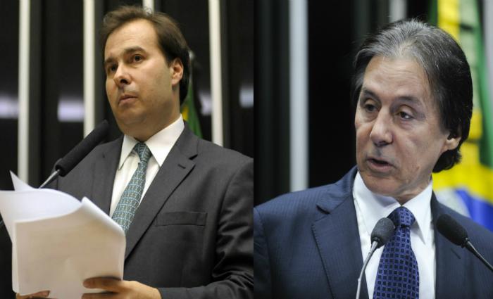 Rodrigo Maia (à esquerda) e Eunício Oliveira (à direita) Fotos: Agência Brasil e Agência Senado