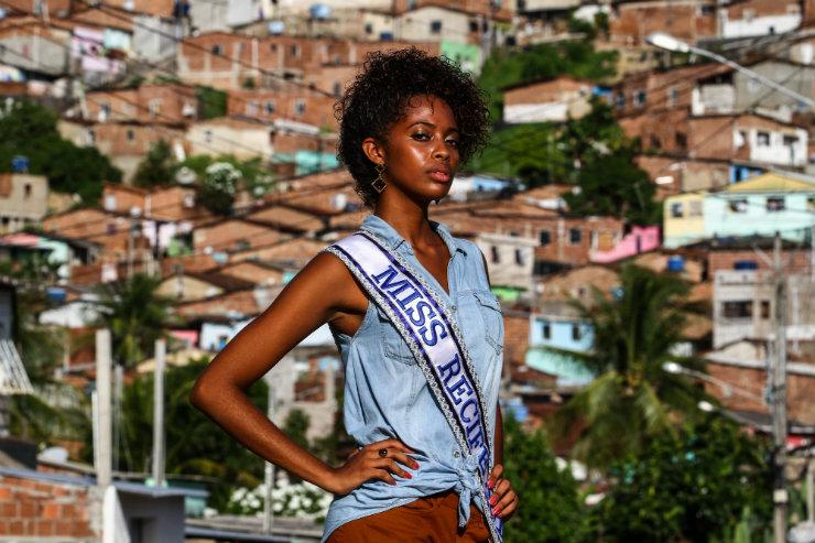 Keron Linn, coroada Miss Recife neste ano, disputa o título de Miss Pernambuco com outras 20 candidatas do Agreste, da Zona da Mata e do Sertão do estado. Foto: Paulo Paiva/DP