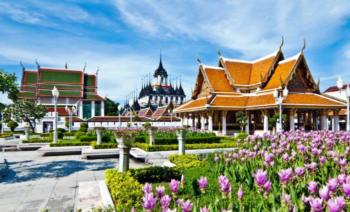 Loha Phrasah e jardins reais: Parte antiga da capital tailandesa oferece uma série de passeios gratuitos. Fotos: Bangkok.com