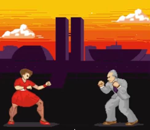 Imagem ilustrativa do single faz referência à disputa entre Dilma e Temer. Imagem: Reprodução do Youtube