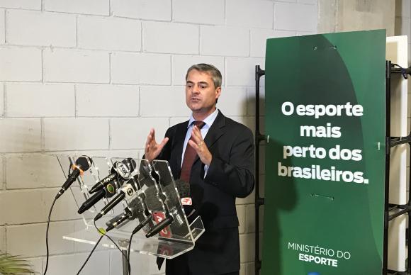 O presidente da AGLO, Paulo Márcio Dias Melo, explica que o objetivo da autarquia é cuidar da matriz de responsabilidade no que se refere às obrigações da União - Foto: Akemi Nitahara - Repórter da Agência Brasil