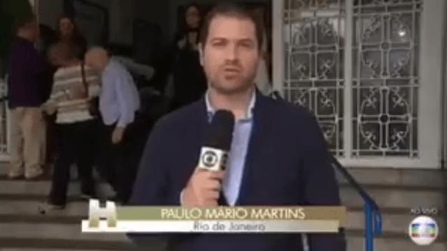 Repórter queria dizer que Bastos Moreno não chegou a ser internado. Foto: Globo/Reprodução