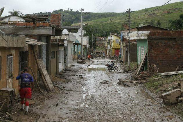 Situação da cidade de Catende após os alagamentos que prejudicaram a Zona da Mata Sul e parte do Agreste do estado. Foto: Deyvson França/Cortesia