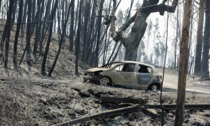 Incêndio florestal de grandes proporções atinge Portugal. Foto: Paulo Novais/Lusa (Incêndio florestal de grandes proporções atinge Portugal. Foto: Paulo Novais/Lusa)