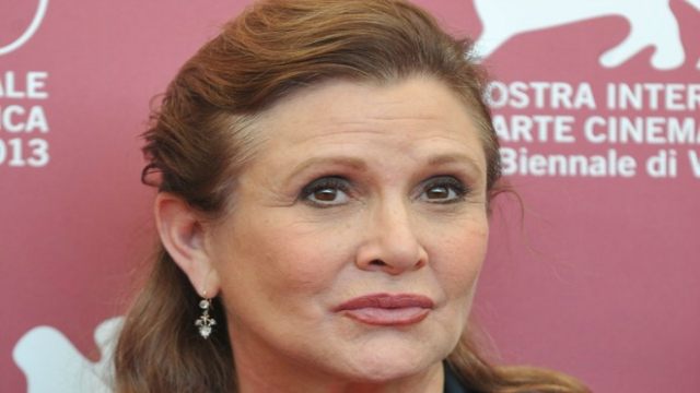 Drogas foram encontradas na necropsia do corpo da atriz Carrie Fisher. Foto: AFP/Divulgação