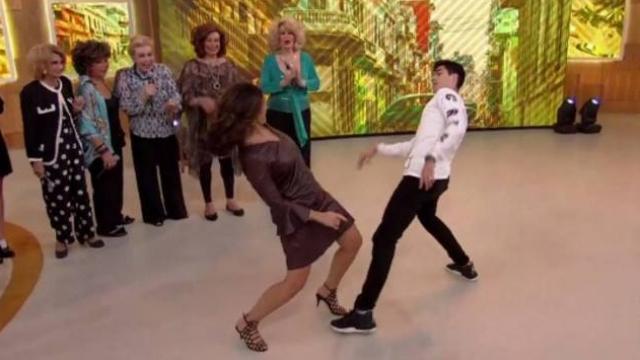 Fátima Bernardes dançou Despacito com bailarino no Encontro. Foto: Globo/Reprodução