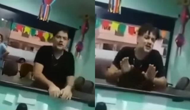 No vídeo, ator discutiu com funcionários e pacientes. Foto: YouTube/Reprodução