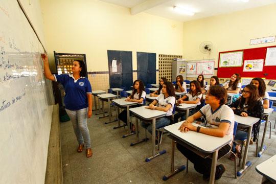 Escola Estadual Tomé Francisco da Silva está entre as 20 instituições públicas mais bem posicionadas do estado no Enem. Foto: Rafael Martins/DP
