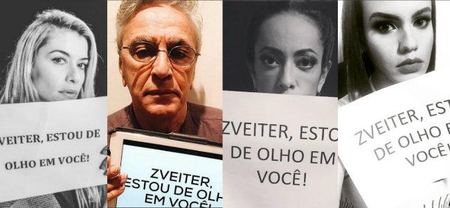Aline Moraes, Caetano Veloso, Samantha Schmutz e Letícia Lima participaram da campanha. Foto: Instagram/Reprodução