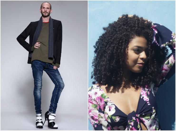 À esquerda, Namie Wihby, mestre dos saltos altos. À direita, a modelo pernambucana Raiane Maria. Fotos: Namie Wihby/Divulgação e Thiago Santos/Especial para o DP