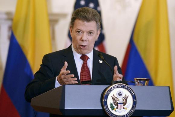 Presidente Juan Manuel Santos - Foto: Olivier Douliery/Agência Lusa/Arquivo