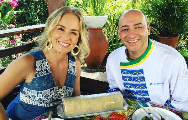 Cesar Sanots já participou algumas vezes de programas de gastronomia. Em janeiro deste ano, foi entrevistado do Estrelas. Foto: Instagram/Reprodução