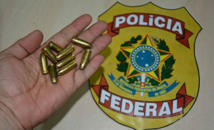 Homem é preso tentando transportar munições de uso restrito. Foto: PF/ Divulgação
