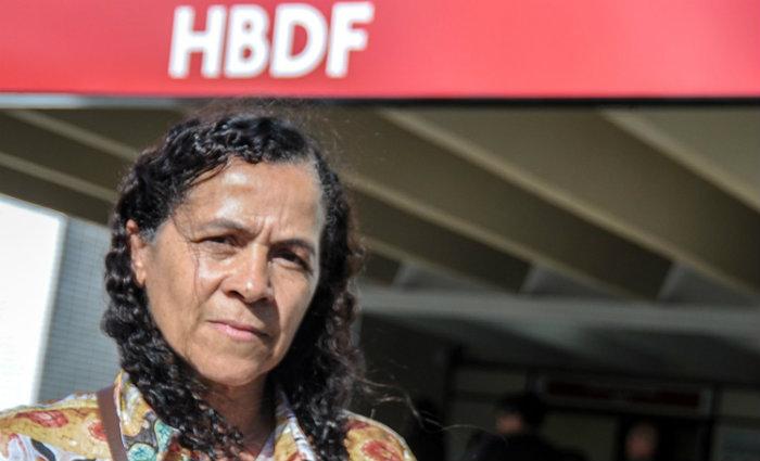 A mãe da artesã Girleide Santos de Castro, 46 anos, Ednalva dos Santos, 69, sofreu um ataque cardíaco. Foto: Bárbara Cabral/ Esp CB