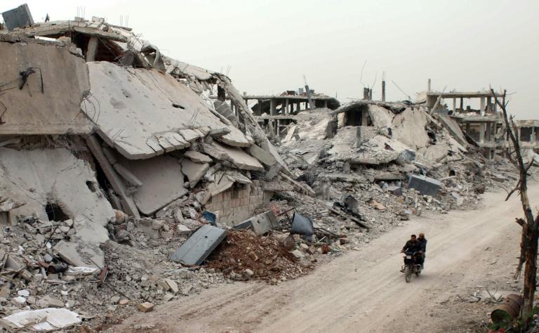 """Segundo Johnson, """"isso mostra a determinação do Reino Unido e dos nossos aliados na Europa"""" na luta contra ataques químicos na Síria. Foto: MOHAMAD ABAZEED/AFP"""