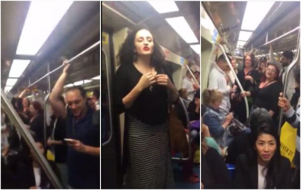 Passageiros se divertiram com a música. Foto: Facebook/Reprodução
