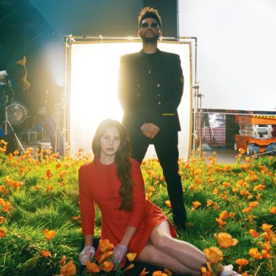 Lana Del Rey e The Weeknd em ensaio para Lust for Life. Foto: Interscope/Divulgação