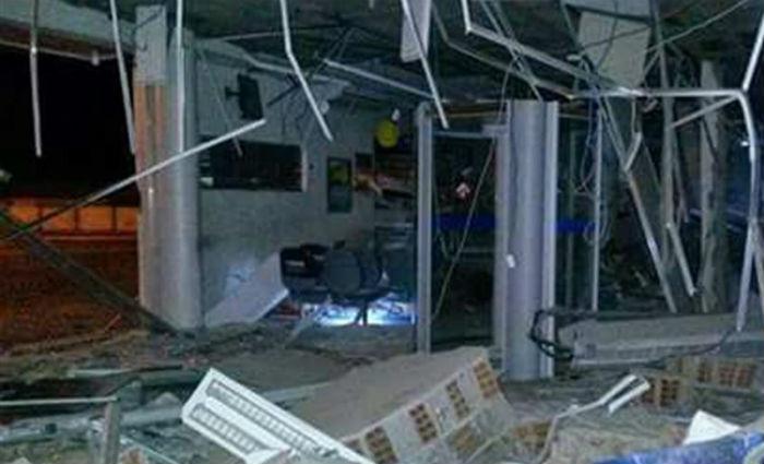 Bandidos explodiram agência em Itamaracá e roubaram o cofre. Foto: Reprodução/ WhatsApp