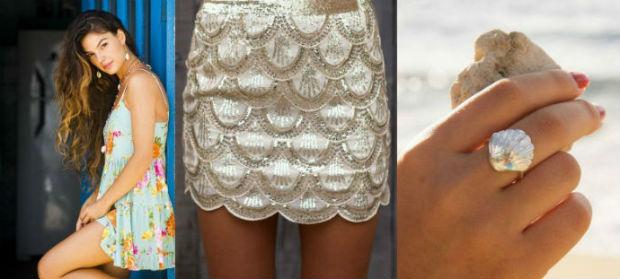Referências ao fundo do mar tomam conta em roupas, acessórios, cabelo e até na decoração. Fotos: Reprodução/Pinterest