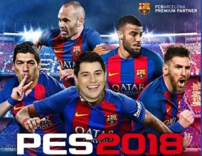 Jornalista brincou com capa de jogo prejudicada porque estampa Neymar ainda no elenco do Barcelona. Foto: Twitter/Reprodução