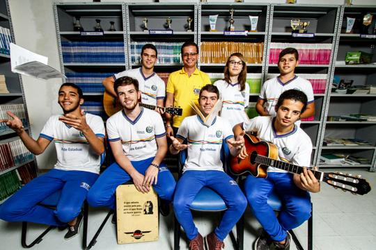 Gestor Niedson Amaral é um grande incentivador do grupo. Foto: Rafael Martins/DP