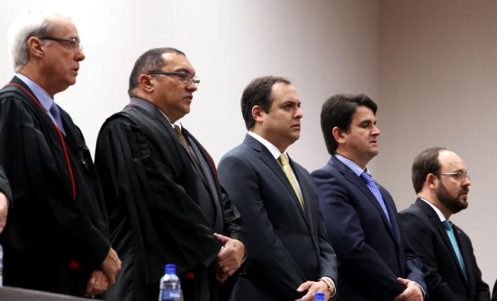 Tomam posse novo procurador e 21 promotores do MPPE. Foto: Aluísio Moreira/SEI