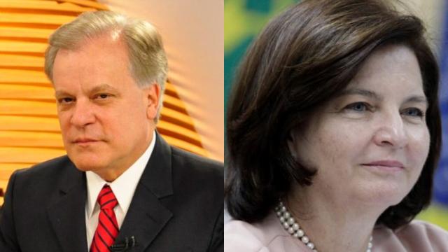 Chico Pinheiro criticou nova procuradora-geral da República por um encontro informal com o presidente. Foto: Globo e BBC/Reprodução