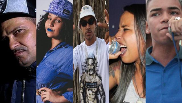 Diferentes gerações do hip hop pernambucano se encontraram em manifesto. Fotos: Facebook/Reprodução