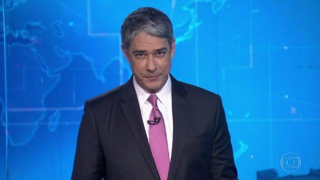 """Apresentador se corrigiu na hora. """"Pulei um dia da semana"""", disse. Foto: Globo/Reprodução"""