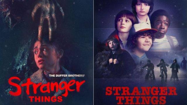 Novos cartazes fazem referência à clássicos dos anos 1980. Foto: Netflix/Divulgação