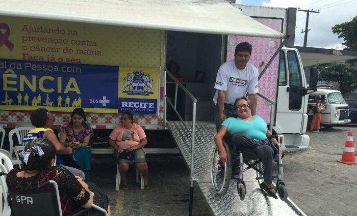 Mamógrafo com rampa de acesso circula pelo Recife a partir de segunda. Foto: Divulgação